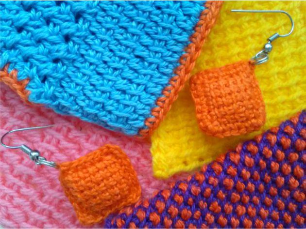 Тунисское вязание. Разные приемы.