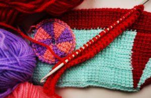 Уроки тунисским крючком - внешний вид тунисского вязания.