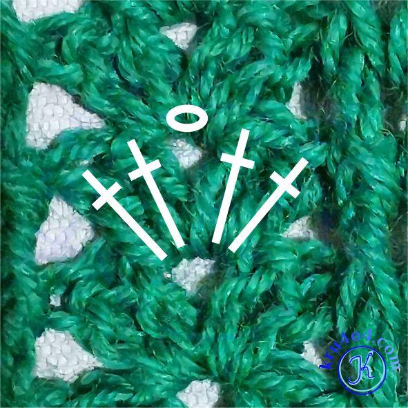 Вязаный шарф - рагулька из 2ССН.