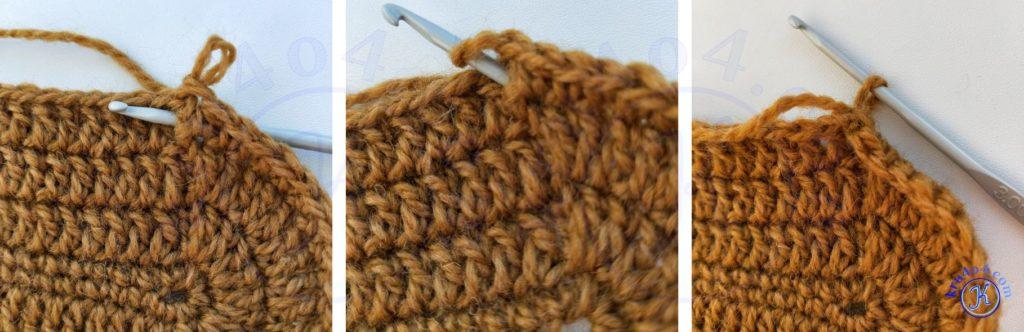 Тапочки сапожки переход к вязанию голенища.