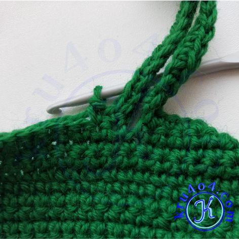 Варежки крючком - воздушные петли для большого пальца.