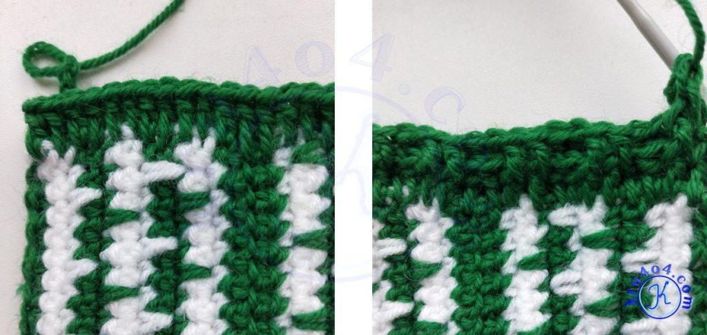 Варежки крючком - резинка 2х2.