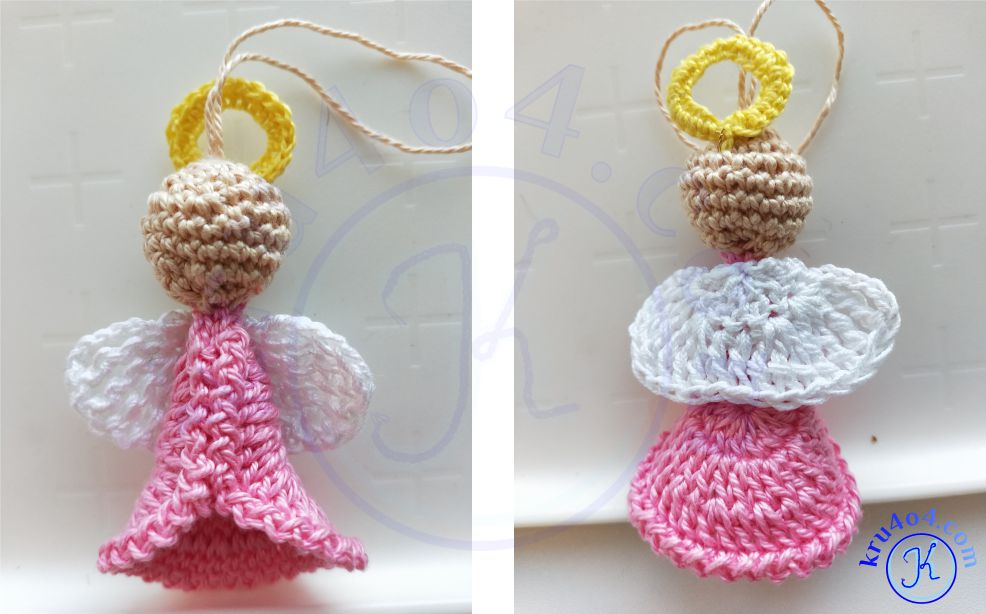 Готовый ангелочек крючком - внешний вид.
