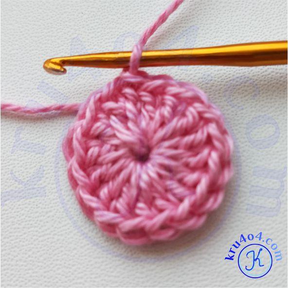 Ангелочек крючком - тело - начало вязания.