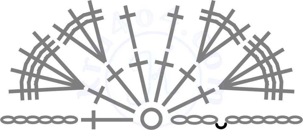 Ангелочек крючком - схема простых крыльев.