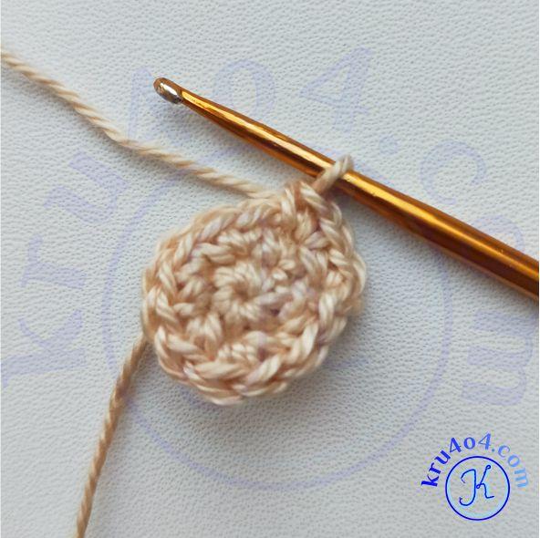 Кольцо амигуруми и начало вязания головы.