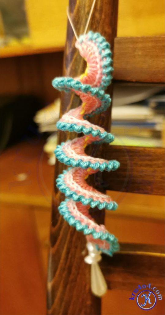 Спираль чуфлин крючком.
