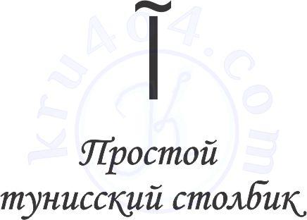 Графическое изображение простого тунисского столбика.