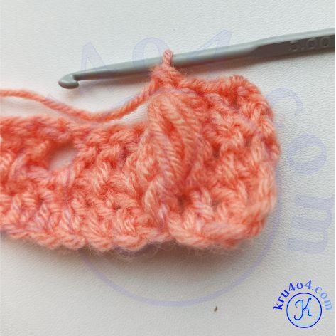 Рельефное вязание крючком - готовый выпуклый пышный столбик.