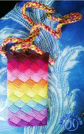 Сочетание цветов радуги в чехле для телефона.
