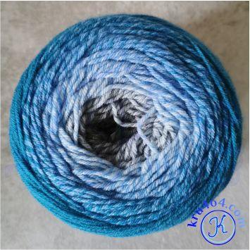 Сочетание градиентных цветов: серый, синий.
