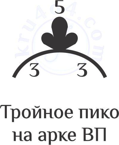 Тройное пико крючком на арочке ВП.