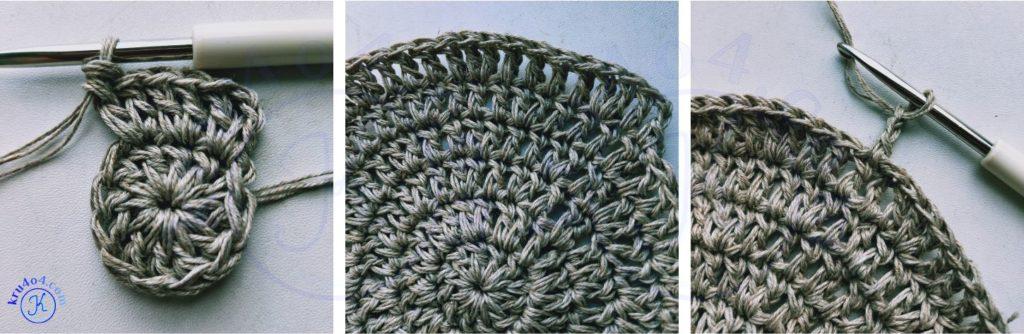 Простая сумка крючком - начало вязания.
